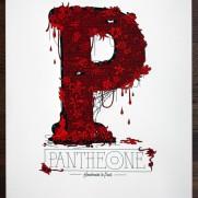 2shy Pantheone handmade print