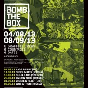 Bomb the box - London live painting