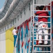 WALL - Horfe, Ken Sortais, Roid, Score,Fence, Sat1 paint a prison