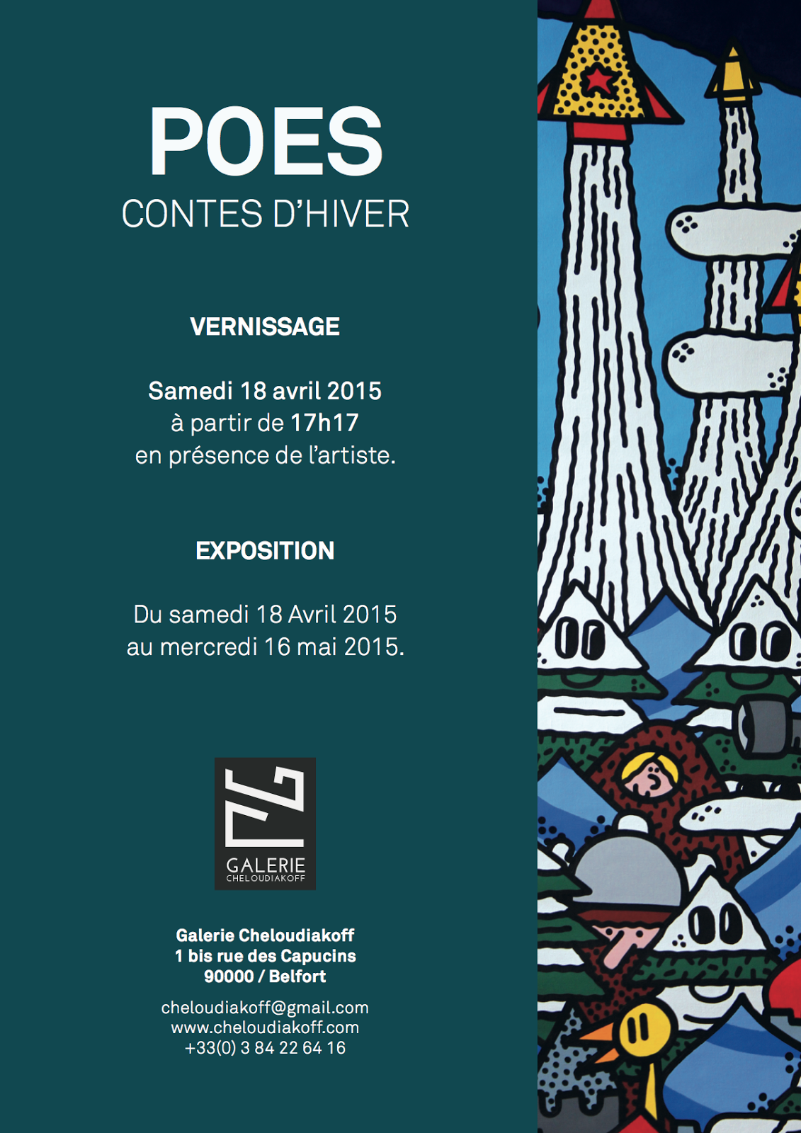 Exposition POES Contes D Hiver Galerie Cheloudiakoff Belfort Street ART (2)