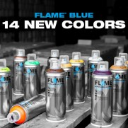 FLAME BLUE CANS- 14 NEW COLORS