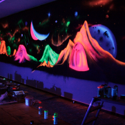 Painting with Neon colors