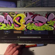 VIDEO - Molotow train canvas x Boogie