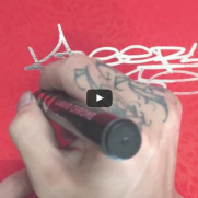 PRODUCT - MOLOTOW LIQUID CHROME Marker in use